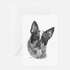 Australian Cattle Dog - George Greeting Cards (Pk