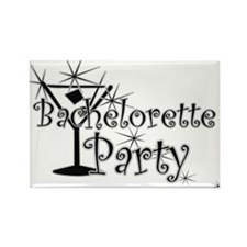 Black C Martini Bachelorette Rectangle Magnet