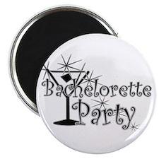 Black C Martini Bachelorette Magnet