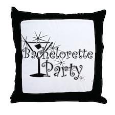 Black C Martini Bachelorette Throw Pillow