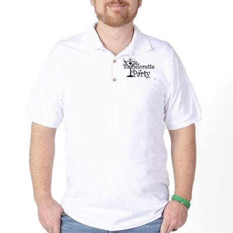 Black C Martini Bachelorette Golf Shirt