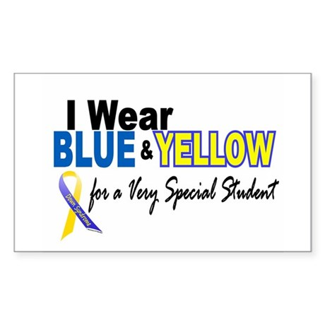 I Wear Blue & Yellow....2 (Special Student) Sticke