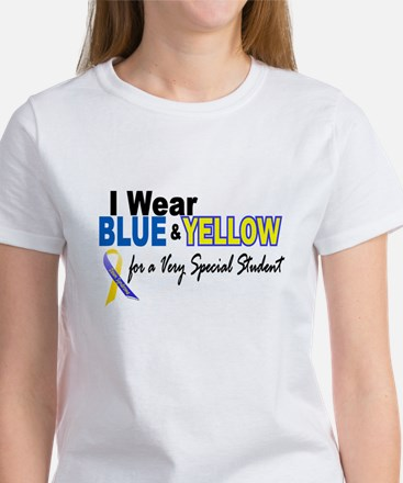 I Wear Blue & Yellow....2 (Special Student) Women'