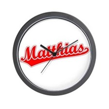Retro Matthias (Red) Wall Clock