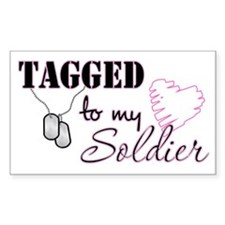 Tagged To My Soldier Rectangle Decal