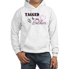 Tagged To My Soldier Hoodie