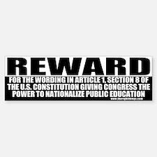 Conservative Reward Bumper Bumper Bumper Sticker