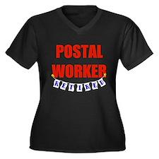 Retired Postal Worker Women's Plus Size V-Neck Dar