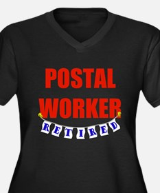 Retired Postal Worker Women's Plus Size V-Neck Dar