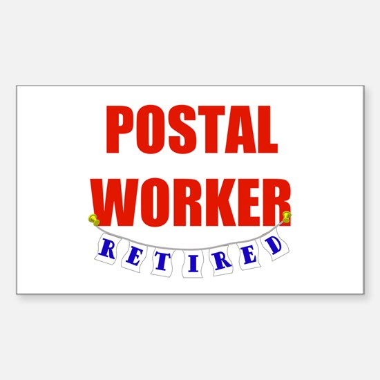Retired Postal Worker Rectangle Decal