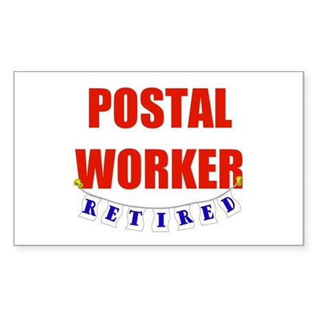 Retired Postal Worker Rectangle Sticker