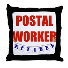 Retired Postal Worker Throw Pillow
