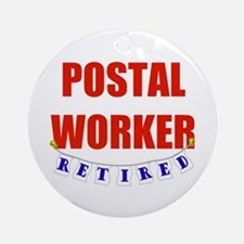 Retired Postal Worker Ornament (Round)