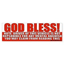God Bless Conservative Bumper Bumper Sticker