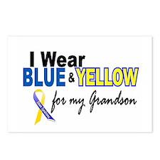 I Wear Blue & Yellow....2 (Grandson) Postcards (Pa