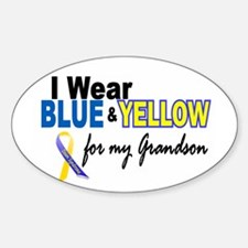I Wear Blue & Yellow....2 (Grandson) Decal