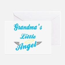 Grandma's Angel Boy Greeting Card