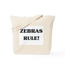 Zebras Rule Tote Bag