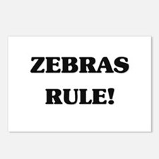 Zebras Rule Postcards (Package of 8)