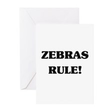 Zebras Rule Greeting Cards (Pk of 10)