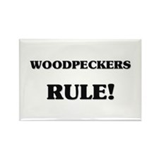 Woodpeckers Rule Rectangle Magnet