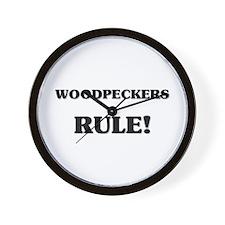 Woodpeckers Rule Wall Clock