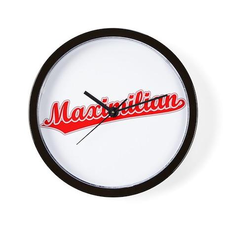 Retro Maximilian (Red) Wall Clock