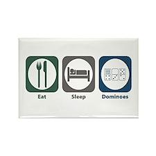 Eat Sleep Dominoes Rectangle Magnet