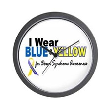 I Wear Blue & Yellow....2 (Awareness) Wall Clock