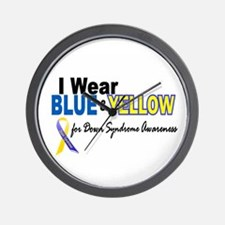 I Wear Blue & Yellow....2 (Awareness) Wall Clock