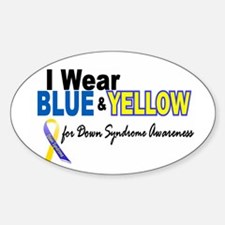 I Wear Blue & Yellow....2 (Awareness) Decal