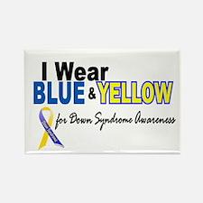 I Wear Blue & Yellow....2 (Awareness) Rectangle Ma