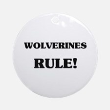 Wolverines Rule Ornament (Round)