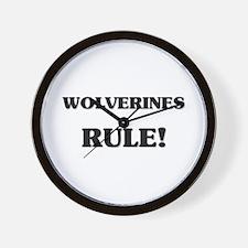 Wolverines Rule Wall Clock