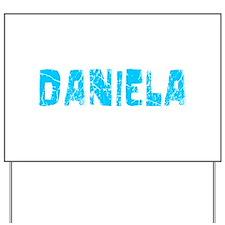 Daniela Faded (Blue) Yard Sign