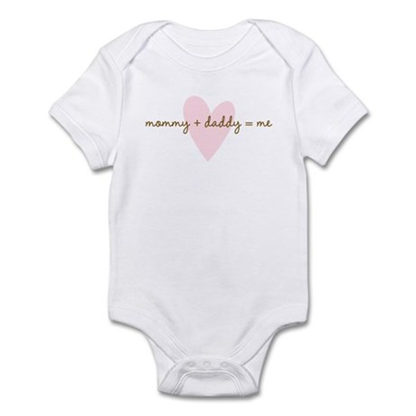 mommy+daddy=me Infant Bodysuit
