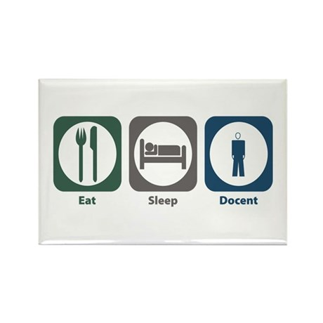 Eat Sleep Docent Rectangle Magnet (100 pack)