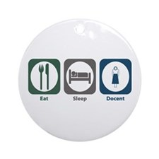 Eat Sleep Docent Ornament (Round)
