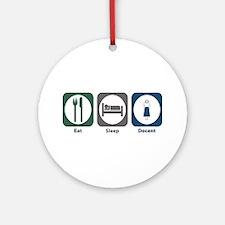 Eat Sleep Docent Ornament (Round)