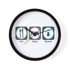 Eat Sleep Docent Wall Clock