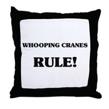 Whooping Cranes Rule Throw Pillow