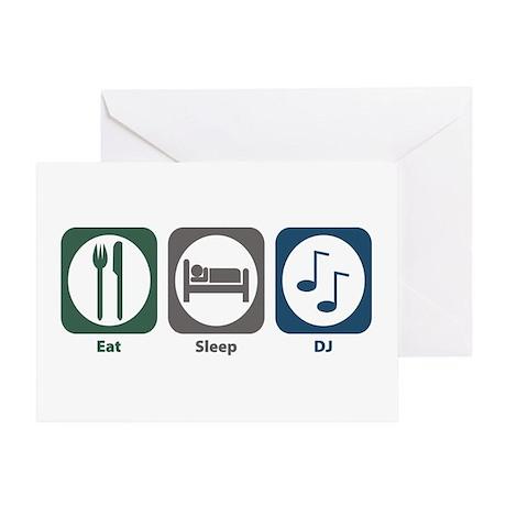 Eat Sleep DJ Greeting Card
