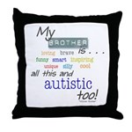 My Brother is . . . Throw Pillow