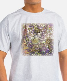 Nature's Floral Arrangement Ash Grey T-Shirt