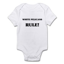 White Pelicans Rule Infant Bodysuit