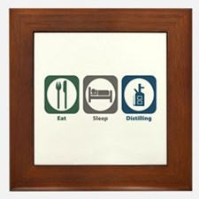 Eat Sleep Distilling Framed Tile