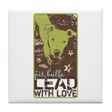 Lead with Love Tile Coaster