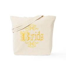 Peach Fancy Bride Tote Bag