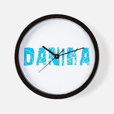 Danika Faded (Blue) Wall Clock
