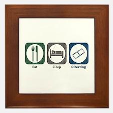 Eat Sleep Directing Framed Tile